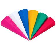 3D Wellpappe-Schultüten, 20 Stück, in 5 Farben