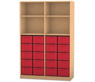 Flexeo Regal, 4 Fächer, 20 grosse Boxen HxB: 190 x 126,4 cm