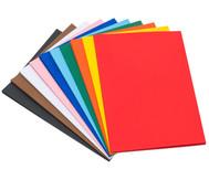 100 Bogen Fotokarton 50 x 70 cm, in 10 Farbtönen, 300 g/m²