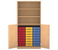 Flexeo Halbtürenschrank mit 24 kleinen Boxen und 2 Halbtüren