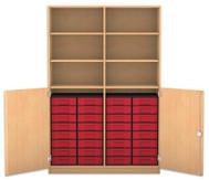 Flexeo Halbtürenschrank mit 32 kleinen Boxen und 2 Halbtüren