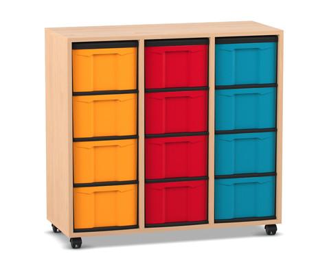 Flexeo Regal 3 Reihen 12 grosse Boxen HxBxT 923 x 986 x 408 cm