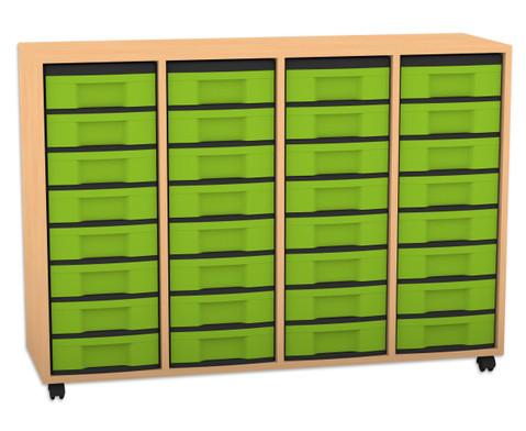 Flexeo Regal 4 Reihen 32 kleine Boxen HxBxT 923 x 1307 x 408 cm