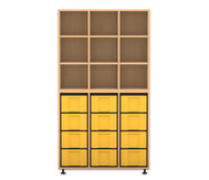 Flexeo Regal, 3 Reihen, 12 grosse Boxen HxBxT: 178,1 x 98,5 x 40,8 cm