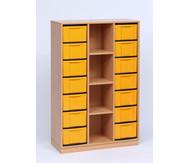 Flexeo Regal, 3 Reihen, 4 Fächer, 14 grosse Boxen HxBxT: 151,8 x 98,6 x 40,8 cm