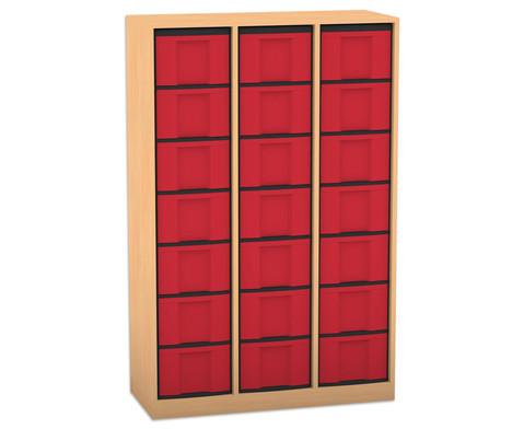 Flexeo Regal 3 Reihen 21 grosse Boxen HxBxT 1518 x 986 x 408 cm