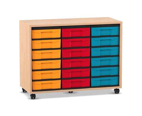 Flexeo Regal mit 18 kleinen Boxen