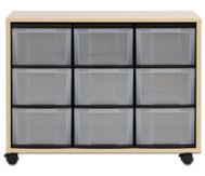 Flexeo Regal Midi mit 9 grossen Boxen HxBxT: 72,8 x 94,8 x 40,8 cm