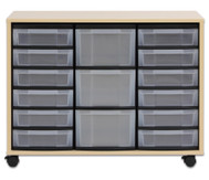 Flexeo Regal Midi mit 12 kleinen und 3 grossen Boxen, HxBxT: 72,8 x 94,8 x 40,8 cm