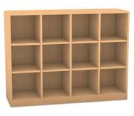 Flexeo Regal, 4 Reihen, 12 Fächer HxBxT: 98 x 130,7 x 40,8 cm