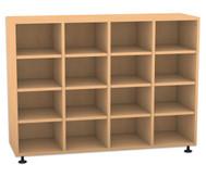 Flexeo Regal, 4 Reihen, 16 Fächer HxBxT: 98 x 130,7 x 40,8 cm