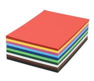 500 Blatt DIN A4 Tonzeichenkarton 160 g/m² in 10 Farben
