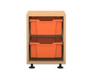 Flexeo Regal PRO, 1 Reihe, 2 grosse Boxen, HxBxT: 54,7 x 37,7 x 48 cm