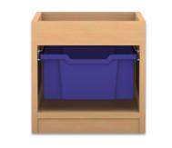 Flexeo Regal PRO, 1 Reihe, 1 grosse Box, mit Aufkantung