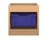 Flexeo Regal PRO, 1 Reihe, 1 grosse Box, mit Aufkantung, HxBxT: 38,5 x 37,7 x 48 cm