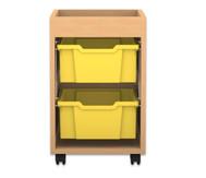 Flexeo Regal PRO, 1 Reihe, 2 grosse Boxen, mit Aufkantung, HxBxT: 60,7 x 37,7 x 48 cm