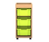 Flexeo Regal PRO, 1 Reihe, 3 grosse Boxen, mit Aufkantung, HxBxT: 82,9  x 37,7 x 48 cm