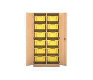 Flexeo Regalschrank PRO, 2 Reihen, 12 grosse Boxen, HxBxT: 143,9 x 73,1 x 50 cm