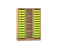 Flexeo Regal PRO mit 3 Reihen, 4 Fächern und 24 kleinen Boxen