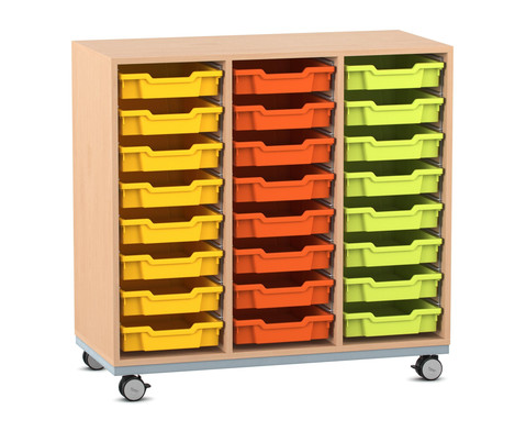 Flexeo Regal Pro mit Stahlrahmen 3 Reihen 16 Boxen