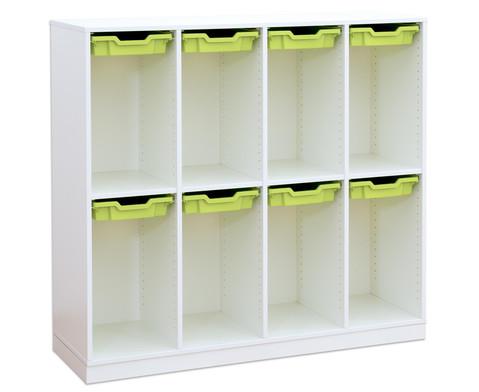 Flexeo Schulranzenregal PRO 4 Reihen 8 kleine Boxen HxBxT 1322 x 1439 x 48 cm-1