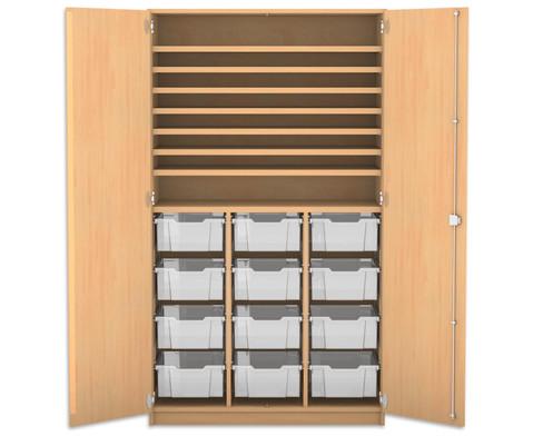 Flexeo Bastelschrank mit 12 grossen Boxen