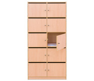 Flexeo Schliessfachschrank, 10 Fächer mit Brief- schlitzen, HxB: 190 x 94,4 cm