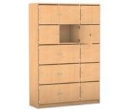 Flexeo Schliessfachschrank 15 Fächer mit Brief- schlitzen, HxB: 190 x 142,5 cm