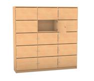 Flexeo Schliessfachschrank 15 Fächer mit Brief- schlitzen, HxB: 190 x 190,5 cm