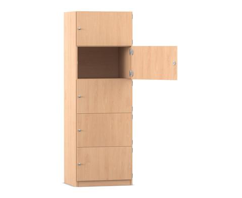 Flexeo Schliessfachschrank 5 geschlossene Faecher H x B 190 x 641 cm