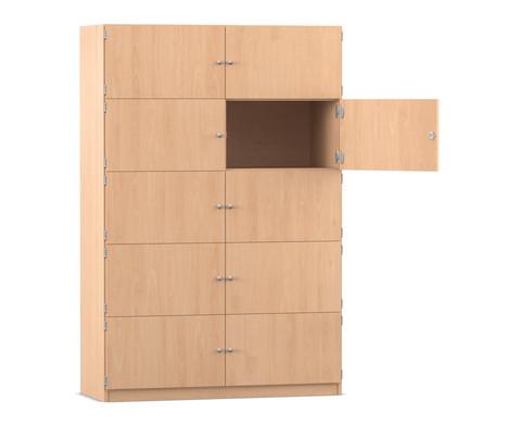 Flexeo Schliessfachschrank 10 geschlossene Faecher Breite 1264 cm