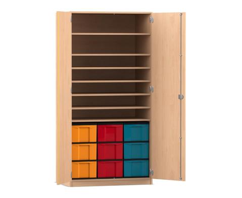 Flexeo Bastelschrank Lukas mit 9 grossen Boxen