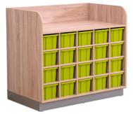 Flexeo Wickelkommode mit 20 großen Boxen