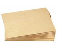 Sperrholzplatten, 10 Stück, 21 x 30 cm