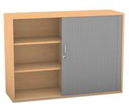 Flexeo Rollladen-Aufsatzschrank mit 6 Fächern, HxB: 90,9 x 126,4 cm