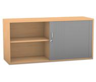 Flexeo Rollladen-Aufsatzschrank mit 4 Fächern, HxB: 60,6 x 126,4 cm