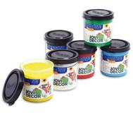 Jovi-Decor, 6x je 50 ml, weiss, gelb, rot, blau, grün, schwarz