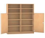 Flexeo Schrank mit 10 Fächern und 2 Halbtüren, HxB: 143,9 x 126,4 cm