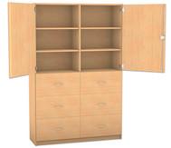Flexeo Hochschrank mit 2 Türen oben