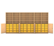 Flexeo Systemschrankwand Antares, 18 Fächer 48 grosse Boxen, HxBxT: 190 x 379,2 x 50 cm