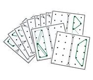 Arbeitskarten transp. Geometrie-Board: Spiegelsymmetrie