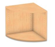 Flexeo Abschlussregal rund, Höhe 41,4 cm