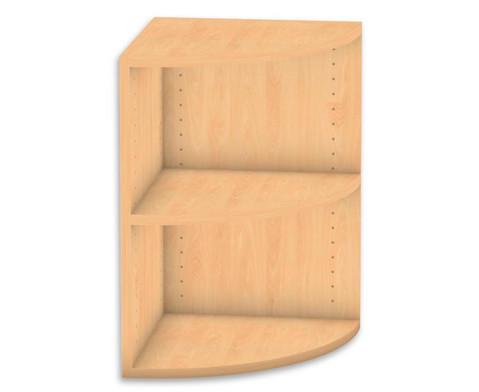 Flexeo Abschlussregal rund 1 Fachboden Hoehe 606 cm