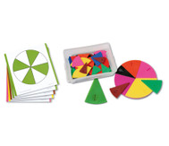 Set: Bruchrechen-Karten und Legematerial