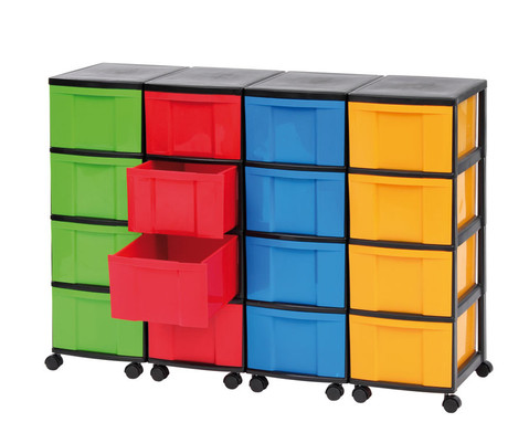 Containersystem Hoehe 86 cm 16 Schuebe grosse Boxen