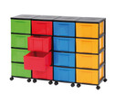Containersystem Hoehe 86 cm 16 Schuebe grosse Boxen-1