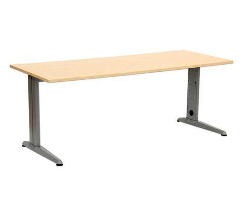 L-Fuss Schreibtisch Hoehe 72 cm fest Platte 160 x 80 cm