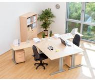 Anbautisch für L-Fuss Schreibtisch, Höhe 72-82 cm, verstellbar