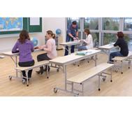 Tisch-Bank-Kombination, 5-6 Sitzplätze, Tischhöhe 74 cm