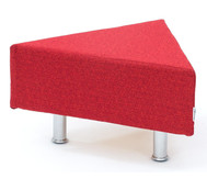 Flexeo Neo Dreieck, Maße (BxT): 72x62 cm, chromfarbig gepulvert